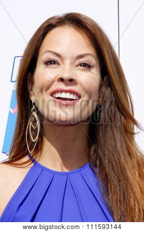 Brooke Burke at the Propel Zero Just Dance Off held at the Jimmy Kimmel Live! Studio Lot in Hollywood, USA on April 29, 2012.