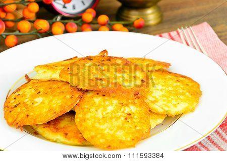 Fried Potato Pancakes. Belarusian and German Cuisine