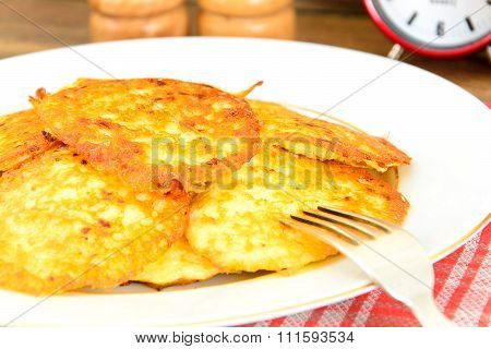 Fried Potato Pancakes. Belarusian and German Cuisine.