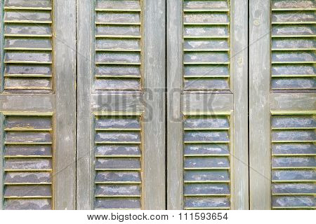 Textured Wooden Shutter Or Sun-protection Blinds