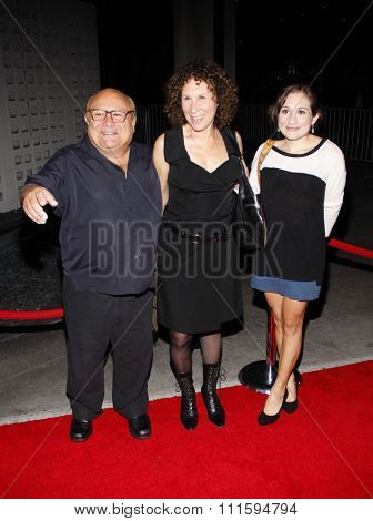 Danny DeVito and Rhea Perlman at the Los Angeles premiere of FX's 'It's Always Sunny In Philadelphia' held at the ArcLight Cinemas in Hollywood, USA on September 13, 2011.