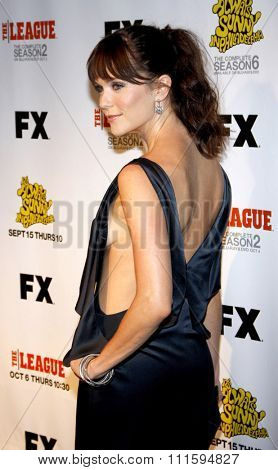 Katie Aselton at the Los Angeles premiere of FX's 'It's Always Sunny In Philadelphia' held at the ArcLight Cinemas in Hollywood, USA on September 13, 2011.