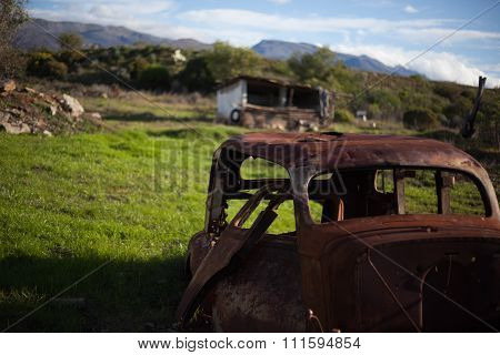 Deserted Rusted Car