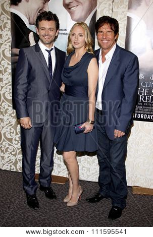 HOLLYWOOD, CALIFORNIA - May 18, 2010. Michael Sheen, Hope Davis and Dennis Quaid at the Los Angeles premiere of 'The Special Relationship' held at the Director's Guild of America in Hollywood.