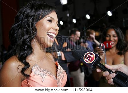 Ashanti at the Los Angeles premiere of 'John Tucker Must Die' held at the Grauman's Chinese Theater in Hollywood, USA on July 25, 2006.