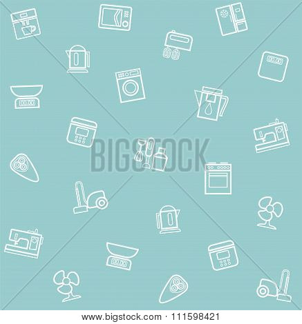 Appliances, Seamless Pattern,...