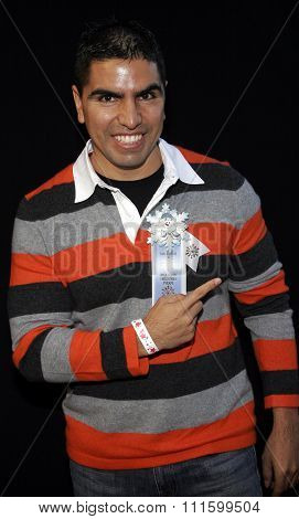 HOLLYWOOD, CALIFORNIA. November 27, 2005. Eddie Sotelo attends the 2005 Hollywood Christmas Parade at the Hollywood Roosevelt Hotel in Hollywood, California United States.