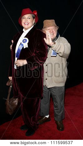 November 27, 2005 - Hollywood - Mickey Rooney and wife Jan Rooney at the 2005 Hollywood Christmas Parade at the Hollywood Roosevelt Hotel in Hollywood, CA. USA.