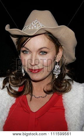 HOLLYWOOD, CALIFORNIA. November 27, 2005. Lesley-Anne Down attends the 2005 Hollywood Christmas Parade at the Hollywood Roosevelt Hotel in Hollywood, California United States.