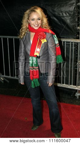 Hayden Panettiere at the 73rd Annual Hollywood Christmas Parade 2004 held at the Roosevelt Hotel in Hollywood, USA on November 28, 2004.