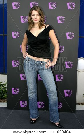 Jessica Pare at The WB Network's 2004 All Star Party- Red Carpet & Party at The Lounge At Astra West in Los Angeles, USA on July 14, 2004.