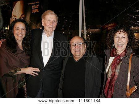WESTWOOD, CALIFORNIA. January 4, 2007. Sumner Redstone and Danny DeVito attend the Los Angeles of