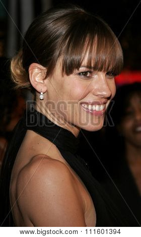 WESTWOOD, CALIFORNIA. January 4, 2007. Hilary Swank attends the Los Angeles of