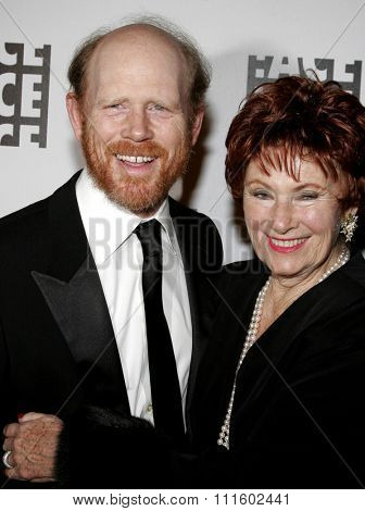 BEVERLY HILLS, CALIFORNIA. February 19, 2006. Ron Howard and Marion Ross attend the 56th Annual ACE Eddie Awards held at the Beverly Hilton hotel in Beverly Hills, California United States.