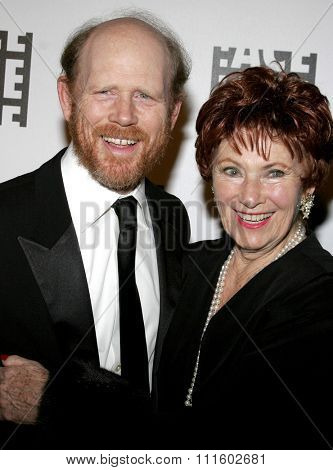 Ron Howard and Marion Ross attend the 56th Annual ACE Eddie Awards held at the Beverly Hilton Hotel in Beverly Hills, California on February 19, 2006.