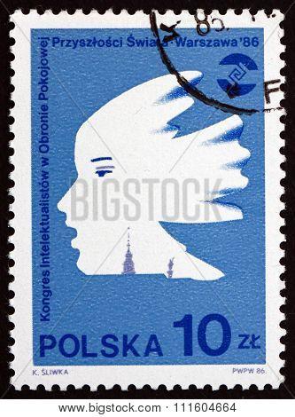 Postage Stamp Poland 1986 Profile, Emblem
