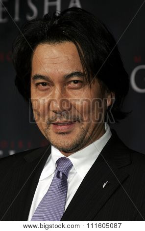 HOLLYWOOD, CALIFORNIA. December 4, 2005. Koji Yakusho attends the Premiere of Memoirs of a Geisha at the Kodak Theater in Hollywood, California United States.