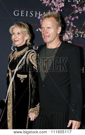 Sting attends The DreamWorks SKG and Sony Pictures Premiere of