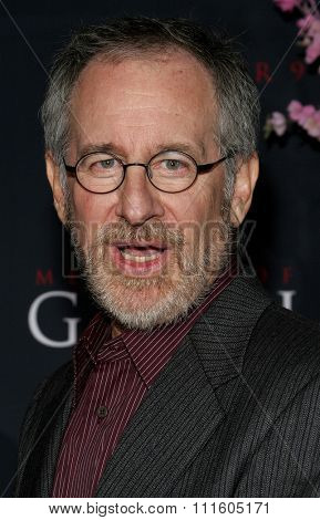 Steven Spielberg attends The DreamWorks SKG and Sony Pictures Premiere of