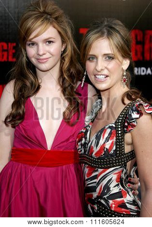 BUENA PARK, CALIFORNIA. October 8, 2006. Amber Tamblyn and Sarah Michelle Gellar attend the World Premiere of