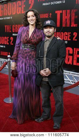 10/08/2006 - Buena Park - Jennifer Beals and Takashi Shimizu at the World Premiere of