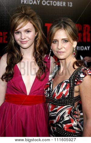 10/08/2006 - Buena Park - Amber Tamblyn and Sarah Michelle Gellar at the World Premiere of