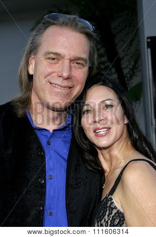 HOLLYWOOD, CALIFORNIA. November 20, 2005. Raja Gosnell and wife Celeste at the
