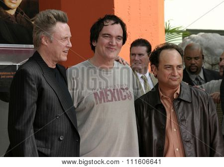 Kevin Pollak and Quentin Tarantino at Christopher Walken Honored With A Hand & Footprints Ceremony held at the Grauman's Chinese Theatre in Hollywood, USA on October 8, 2004.