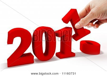 3d image of new year