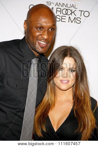 Khloe Kardashian and Lamar Odom at the 19th Annual Race To Erase MS held at the Hyatt Regency Century Plaza in Los Angeles, California, United States on May 18, 2012.