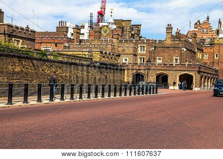 St. James Palace In Pall Mall, London, England, Uk