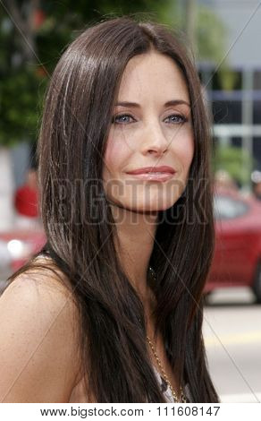 HOLLYWOOD, CALIFORNIA. July 30, 2006. Courteney Cox attends the World Premiere of