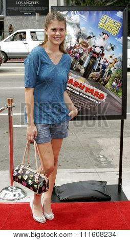HOLLYWOOD, CALIFORNIA. July 30, 2006. Lindsey Shaw attends the World Premiere of