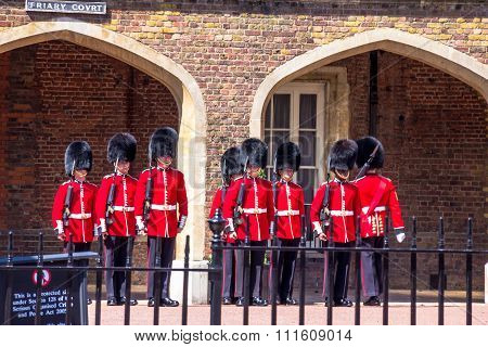 Changing Of The Guard Near St. James Palace In The Mall, London, England, Uk