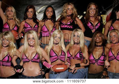 09/07/2006 - Hollywood - Team New York Euphoria attends the Bodog.com Lingerie Bowl IV Kick-Off Party held at the Les Deux in Hollywood, California, United States.