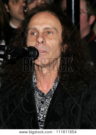 Slash, Ronnie James Dio and Terry Bozzio Inducted into Hollywood's RockWalk held at the Hollywood's Guitar Center RockWalk in Hollywood, USA on January 17, 2007.