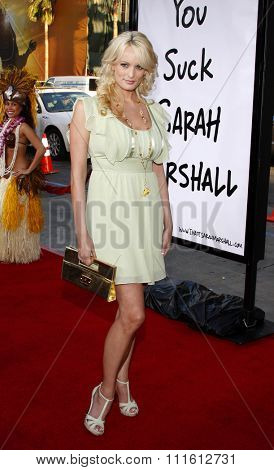 April 10, 2008. Stormy Daniels at the World Premiere of