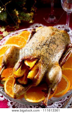 Duck With Oranges In The New Year's Eve