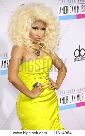 Nicki Minaj at the 40th American Music Awards held at the Nokia Theatre L.A. Live in Los Angeles, USA on November 18, 2012.