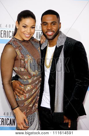 Jordin Sparks and Jason Derulo at the 2012 American Music Awards held at the Nokia Theatre L.A. Live in Los Angeles, USA on November 18, 2012.
