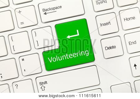 White Conceptual Keyboard - Volunteering (green Key)