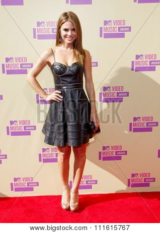 Maria Menounos at the 2012 MTV Video Music Awards held at the Staples Center in Los Angeles, USA on September 6, 2012.