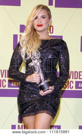 Demi Lovato at the 2012 MTV Video Music Awards held at the Staples Center in Los Angeles, USA on September 6, 2012.