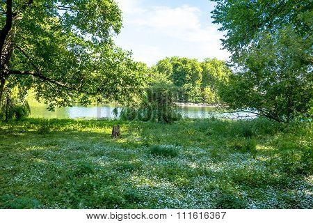 St. James Park Lake In London.