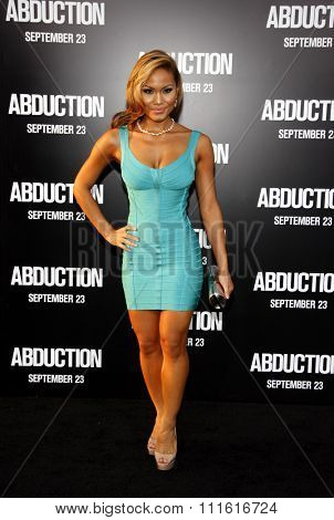 Daphne Joy at the Los Angeles premiere of 'Abduction' held at the Grauman's Chinese Theatre in Hollywood, USA on September 15, 2011.