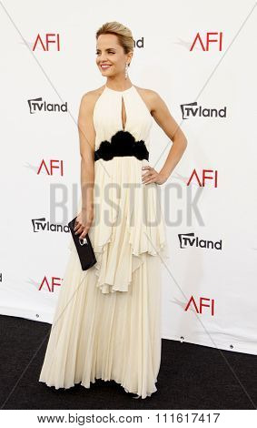 Mena Suvari at the AFI Life Achievement Award Honoring Shirley MacLaine held at the Sony Studios in Los Angeles, USA on June 7, 2012.