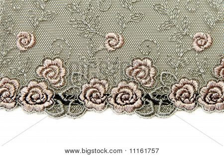 Black Lace With Pattern Rose Flowerses
