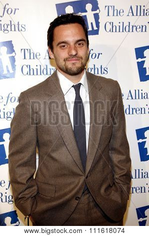 Jake Johnson at the Alliance for Children's Rights Dinner Honoring Kevin Reilly held at the Beverly Hilton Hotel in Beverly Hills, USA on March 1, 2012.