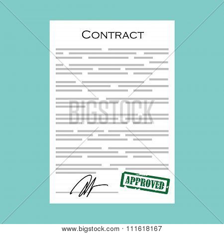 Contract With Stamp Approved