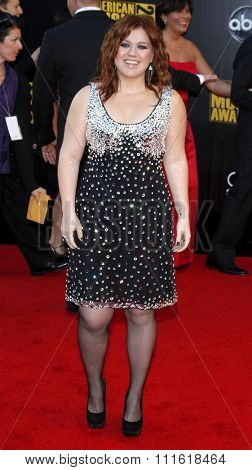 Kelly Clarkson at the 2009 American Music Awards at Nokia Theatre L.A. Live in Los Angeles, USA on November 22, 2009.